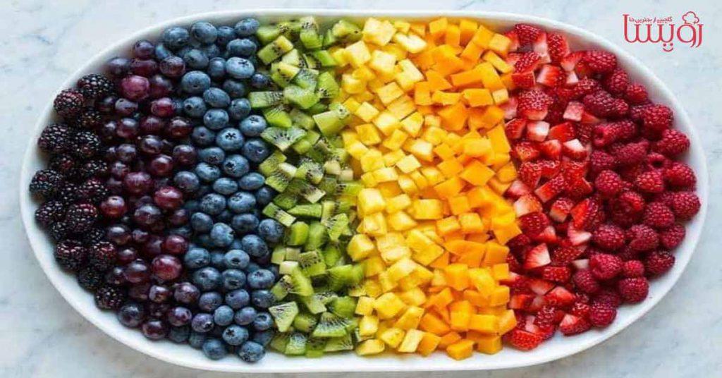 طرز تهیه سالاد میوه رنگین کمان- مجله زندگی رویسا